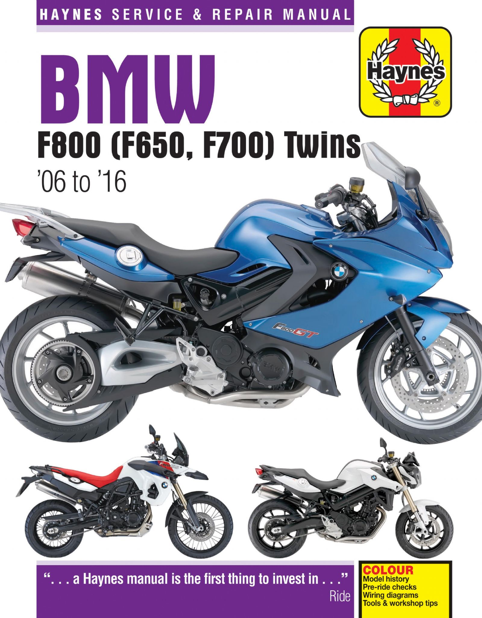 Bmw F800 F650 F700 Twins 06 17 Haynes Manual Wiring Diagrams
